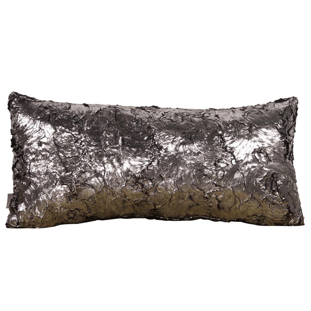 Silver Gray Fox Kidney Decorative Pillow