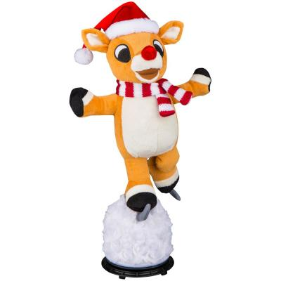 16.5 in. Christmas Animated Plush Skating Rudolph the Red-Nosed Reindeer