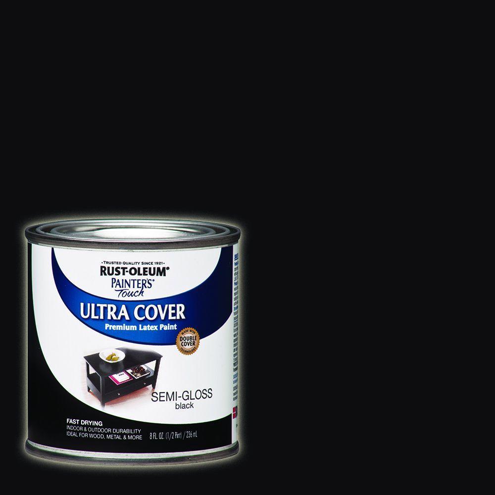 Rust-Oleum Painter's Touch 8 oz. Semi-Gloss Black General Purpose Paint
