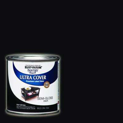 8 oz. Semi-Gloss Black General Purpose Paint