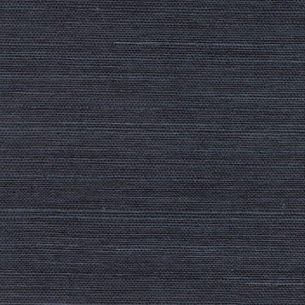 8 in. x 10 in. Peninsula Navy Sisal Grass Cloth Wallpaper Sample