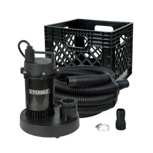 Click here to buy Everbilt 1/4 HP Submersible Utility Pump Kit by Everbilt.