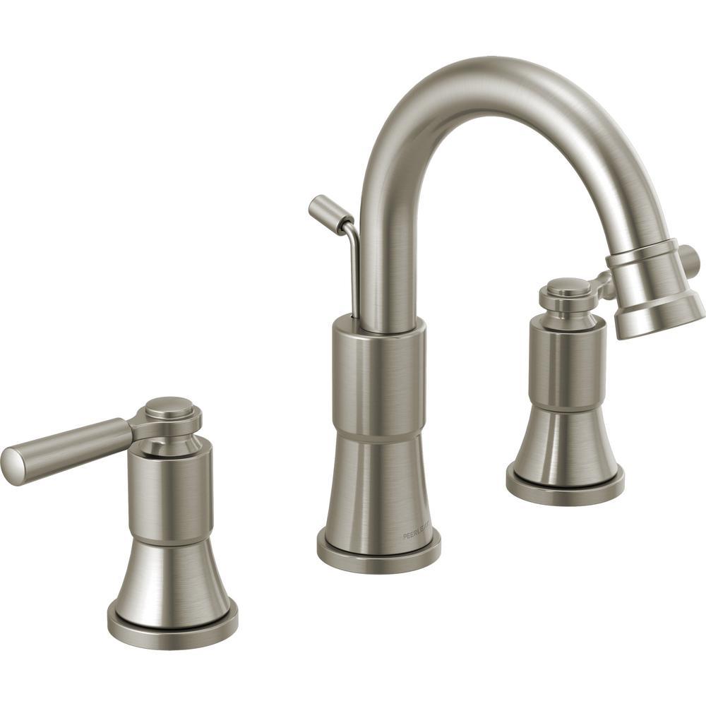 Westchester 8 in. Widespread 2-Handle Bathroom Faucet in Brushed Nickel