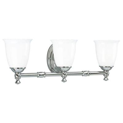 Victorian Collection 3-Light Chrome Bathroom Vanity Fixture