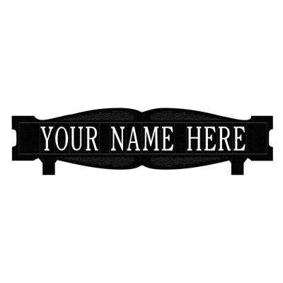 Rectangular 2-Sided 1-Line Mailbox Sign without Ornament Standard - Black/White