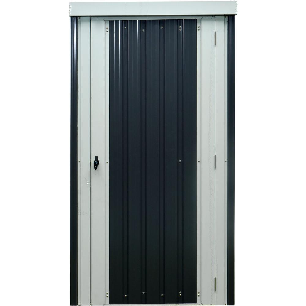 Hanover 5.9 ft. x 3.2 ft. x 2.7 ft. Galvanized Steel Patio Storage Shed