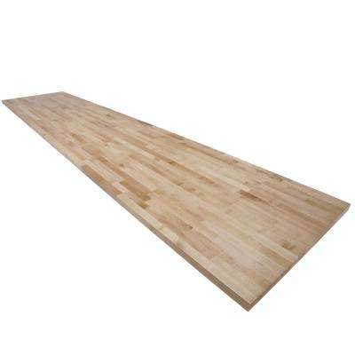 8 ft. L x 3 ft. D x 1.5 in. T Butcher Block Countertop in Finished Maple