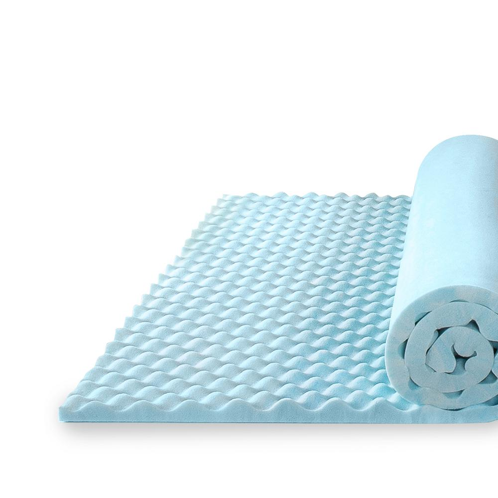 zinus 1 5 in king size swirl gel memory foam air flow mattress topper hd swft 150k the home depot. Black Bedroom Furniture Sets. Home Design Ideas