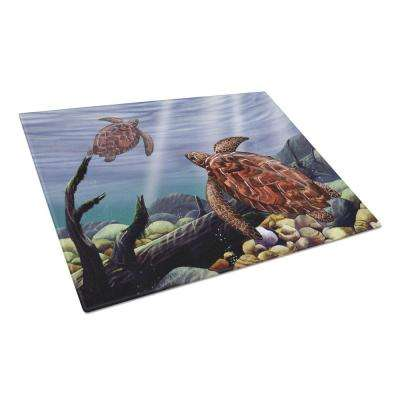 Sea Turtles Tempered Glass Large Heat Resistant Cutting Board