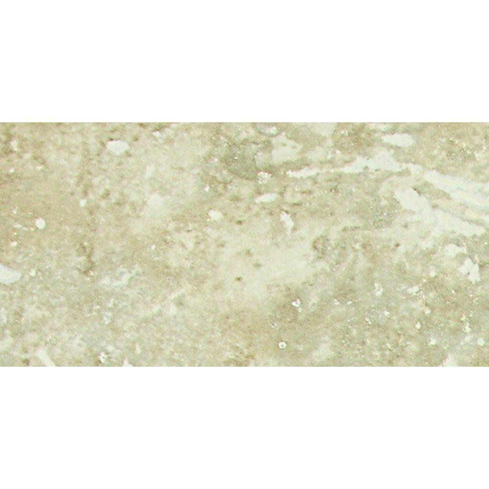 Heathland White Rock 3 in. x 6 in. Glazed Ceramic Wall