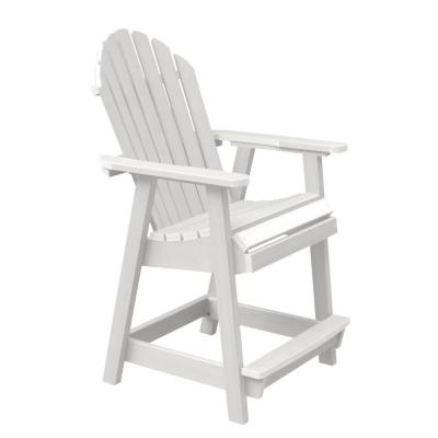Hamilton White Counter-Height Recycled Plastic Outdoor Dining Chair