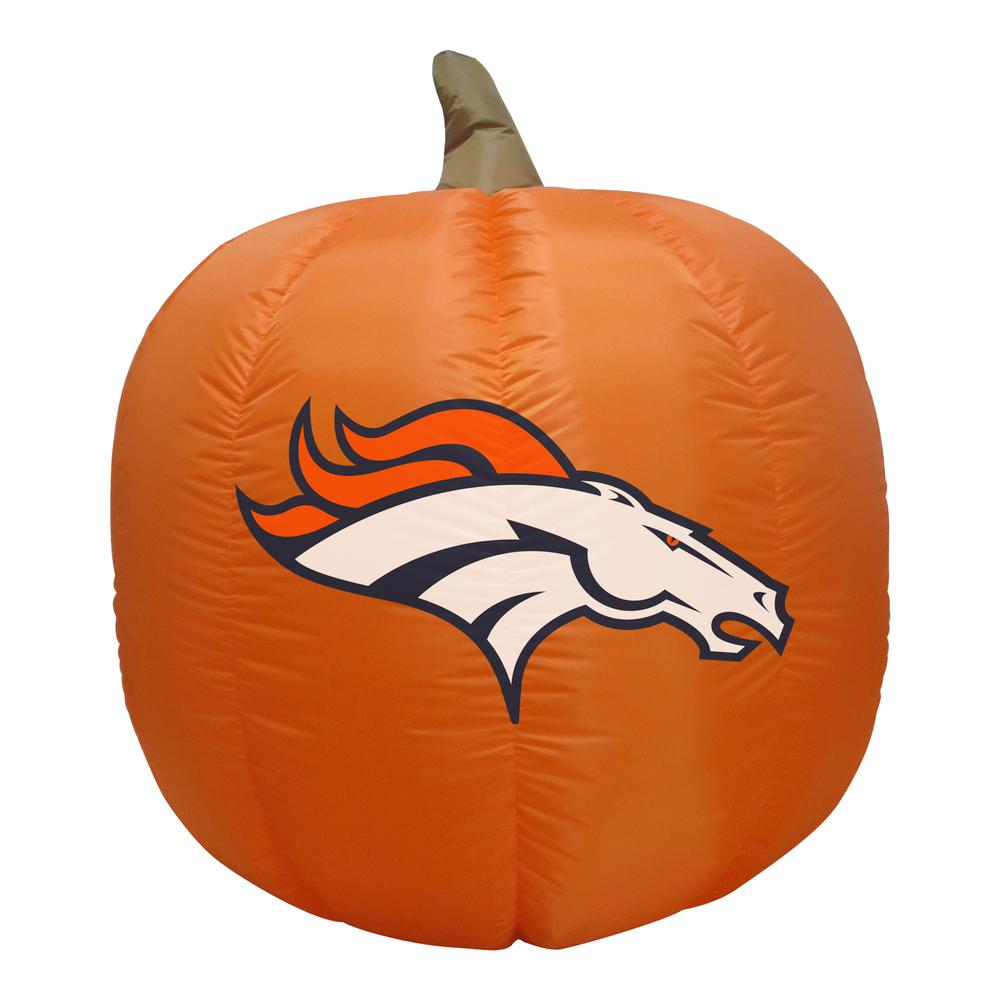 NFL 4 ft. Denver Broncos Inflatable Pumpkin