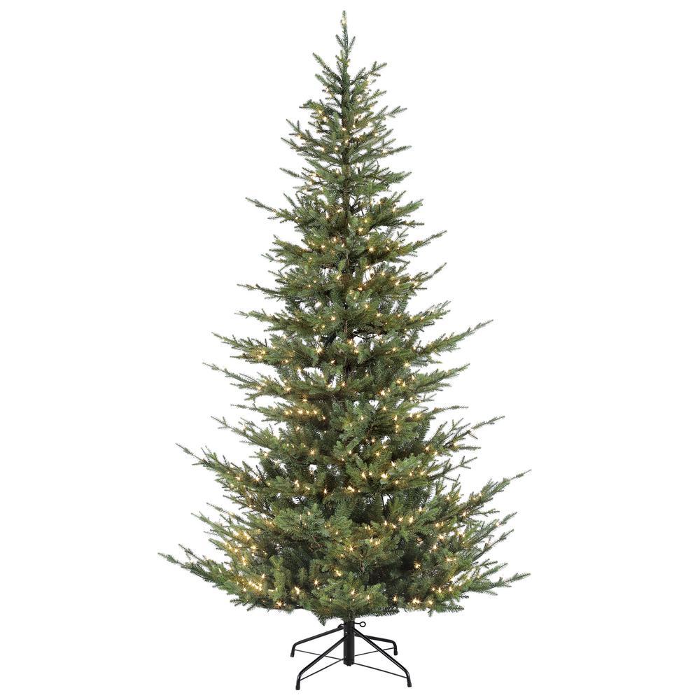 7 5 Fiber Optic Christmas Tree: Puleo International 7.5 Ft Pre Lit Natural Fir ArtificIal