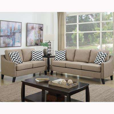 Gargano 2-Piece Sand Sofa Set