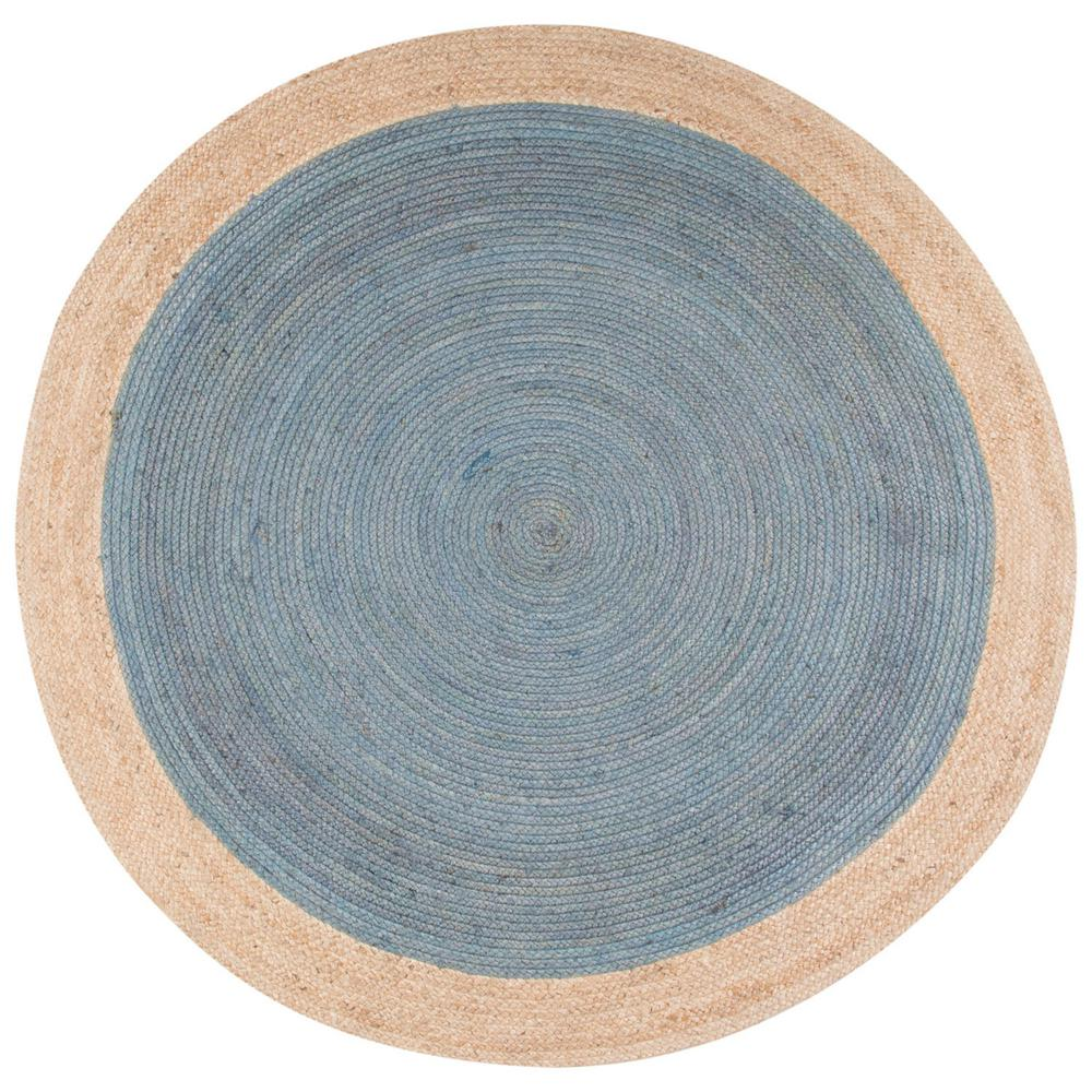 Jaipur Rugs Natural Smoke Blue 8 Ft X 8 Ft Borders Round