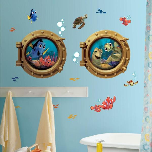 18 in. x 40 in. Finding Nemo 19-Piece Peel and Stick Giant Wall Decals