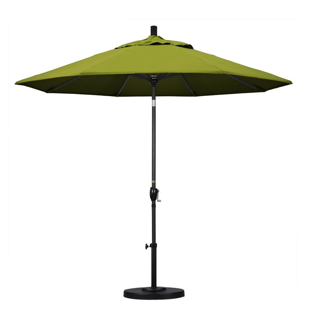 9 ft. Aluminum Push Tilt Patio Umbrella in Kiwi Olefin
