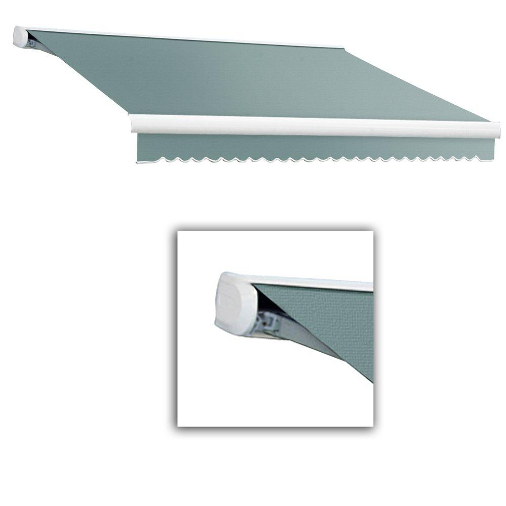 AWNTECH 18 ft. Key West Full-Cassette Right Motor Retractable Awning with Remote (120 in. Projection) in Sage