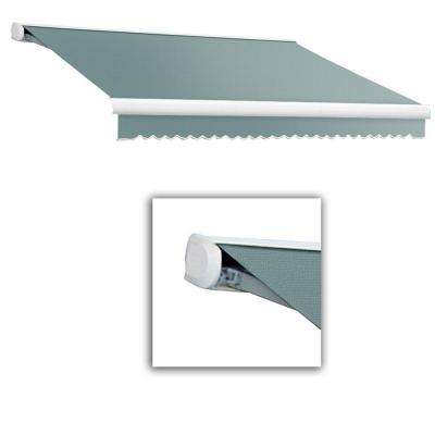24 ft. Key West Full-Cassette Right Motor Retractable Awning with Remote (120 in. Projection) in Sage