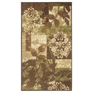 Modern Living Leaves Brown 2 ft. 2 inch x 3 ft. 9 inch Accent Rug by Modern Living
