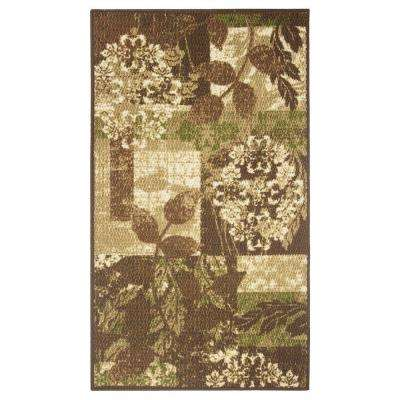 Leaves Brown 2 ft. x 4 ft. Area Rug