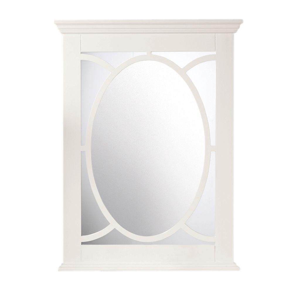 Home Decorators Collection Reflections 34 In H X 24 In W Barry Mirror In Pure White Frame