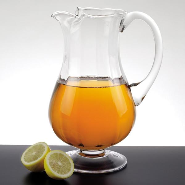Badash Crystal 54 Oz 11 In High Impressions European Mouth Blown Lead Free Crystal Optic Pitcher Sl628 The Home Depot
