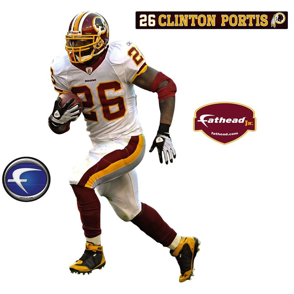 Fathead 18 in. x 32 in. Clinton Portis Washington Redskins Wall Decal