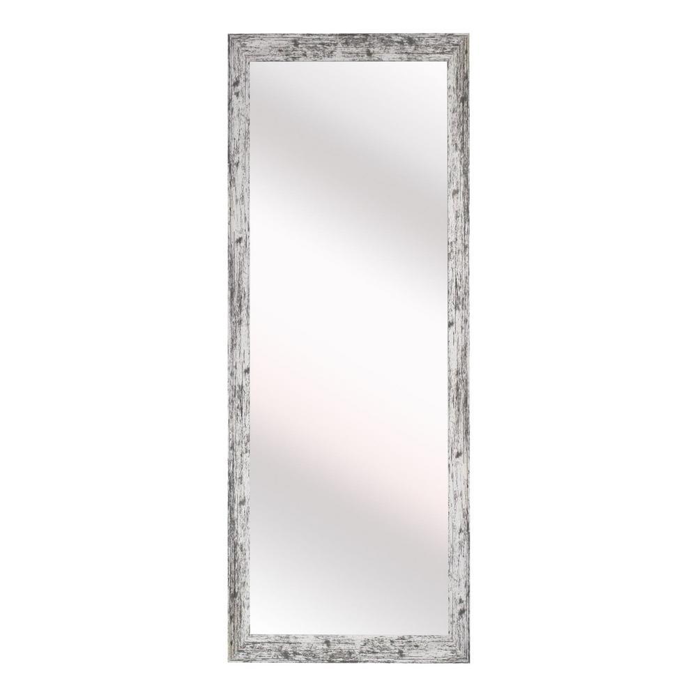 15 in. W x 54 in. H Framed Rectangular Bathroom Vanity Mirror in White