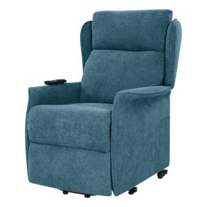 Admirable Prolounger Classic Caribbean Blue Chenille Power Recline And Gmtry Best Dining Table And Chair Ideas Images Gmtryco