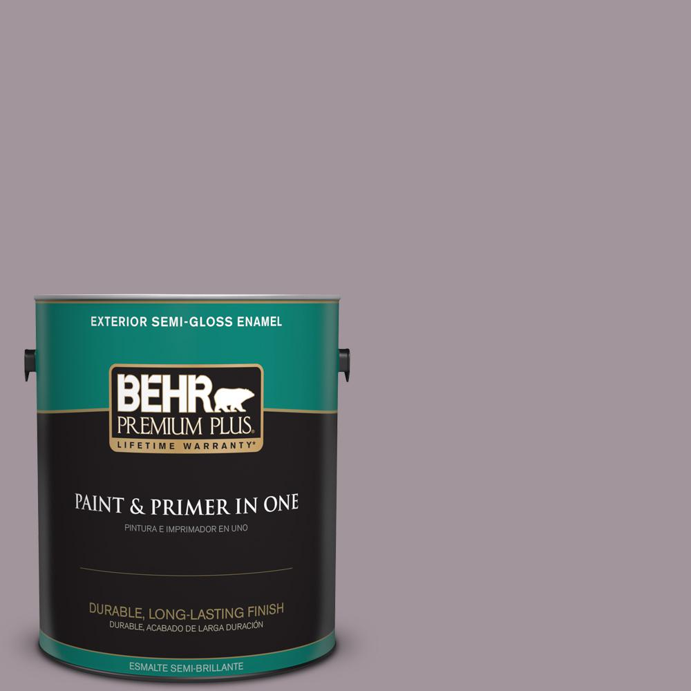1 gal. #PPU17-13 Heather Plume Semi-Gloss Enamel Exterior Paint