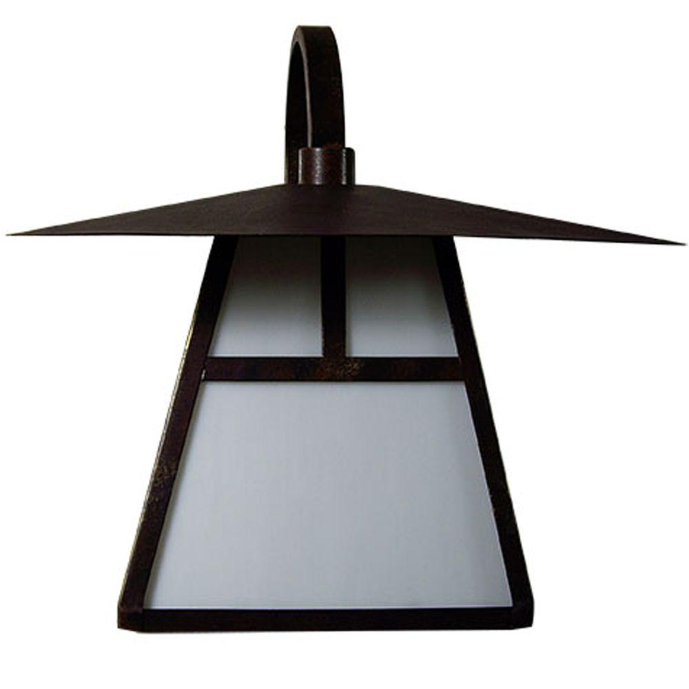 Yosemite Home Decor Incline Collection Wall mount 1-Light Outdoor Lamp-DISCONTINUED