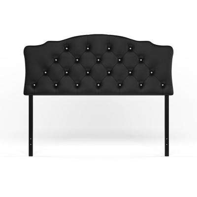 Rita Black Queen Headboard