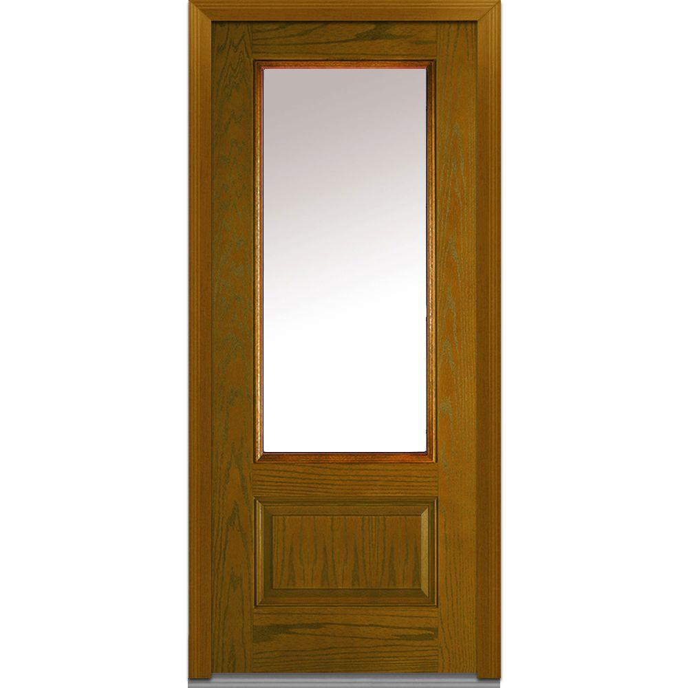 36 in. x 80 in. Clear Left-Hand 3/4 Lite 1-Panel Classic
