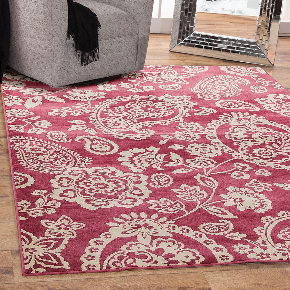 Sams international sonoma hinsley raspberry 7 ft 10 in x for International home decor rugs