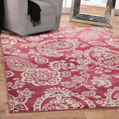 Sonoma Hinsley Raspberry 7 ft. 10 in. x 11 ft. 2 in. Area Rug