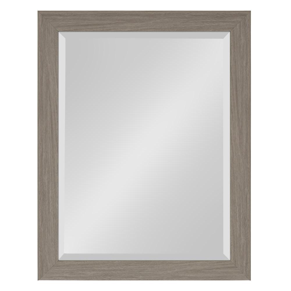 Scoop Rectangle Gray Mirror