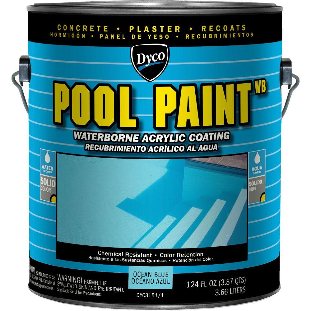 Pool Paint 1 Gal. 3151 Ocean Blue Semi-Gloss Acrylic Exterior Paint