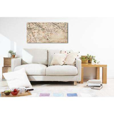24 in. H x 48 in. W 'SAI - Gentle Blossom' by Oliver Gal Framed Canvas Wall Art