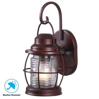 Harbor 1 Light Copper Outdoor Small Wall Lantern