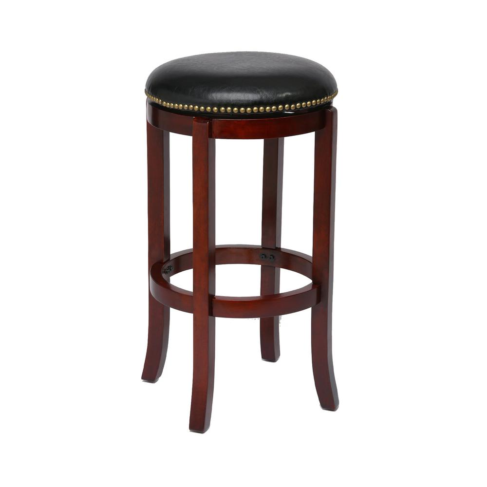 Genuine Leather Swivel Bar Stools