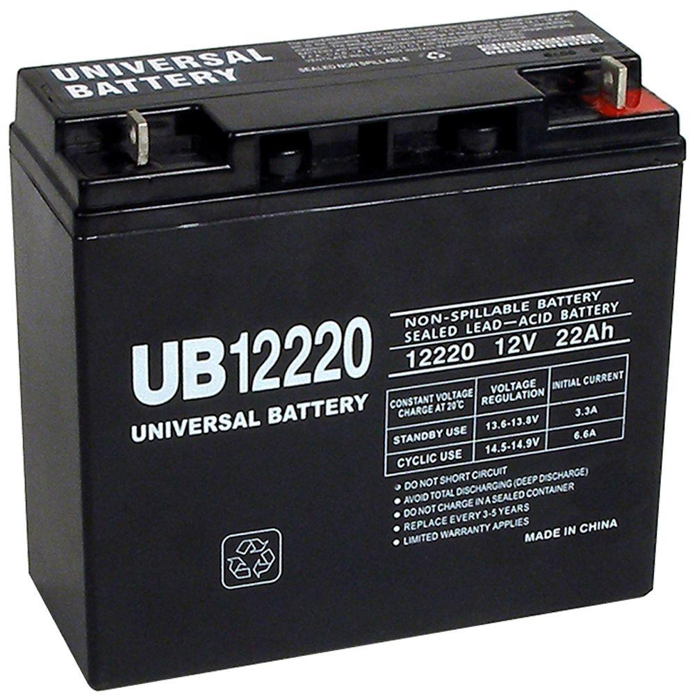 upg sla 12 volt 22 ah t4 terminal battery ub12220 the. Black Bedroom Furniture Sets. Home Design Ideas