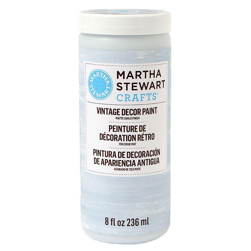 Martha Stewart Crafts Vintage Decor 8 oz. Blue Agave Matte Chalk Finish Paint