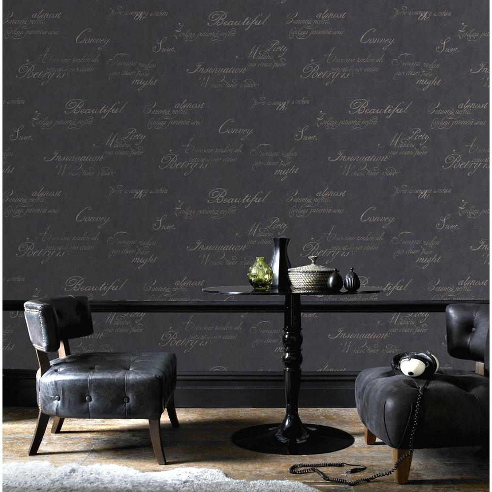 Concrete Script Removable Wallpaper