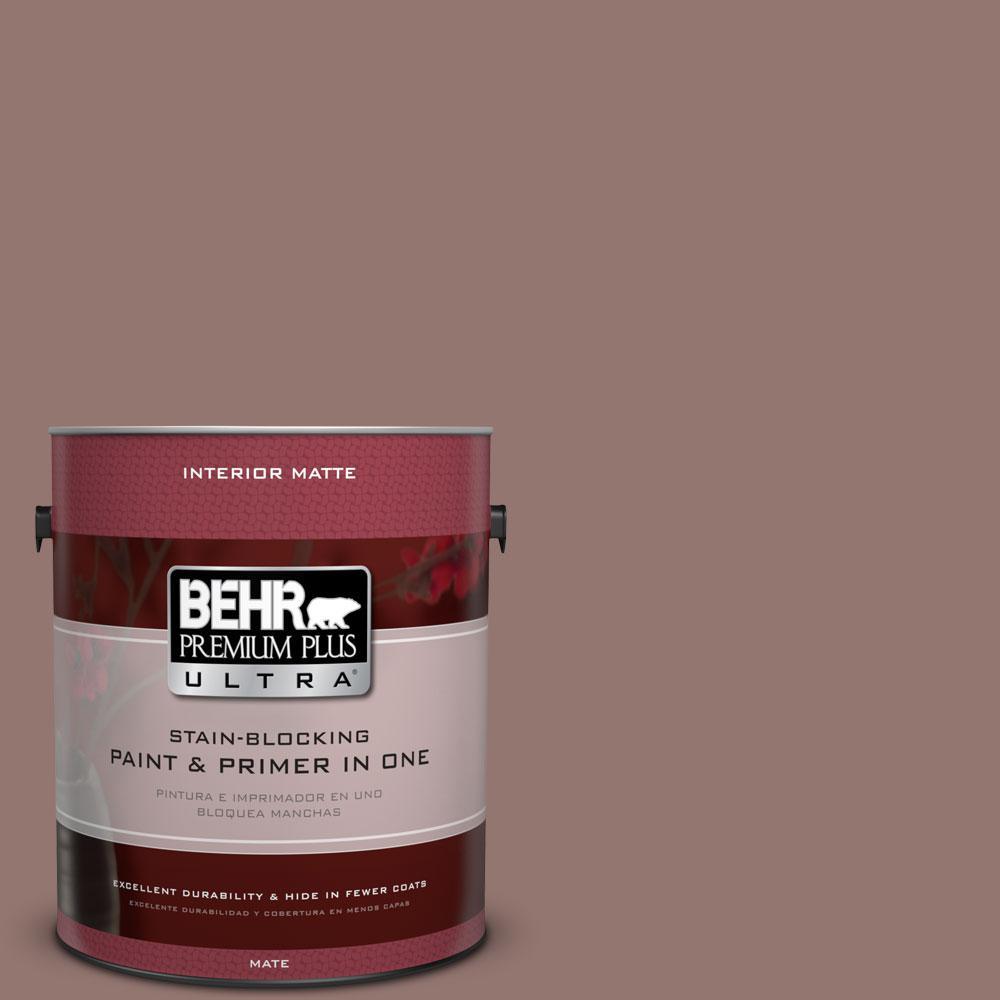 BEHR Premium Plus Ultra 1 gal. #710B-5 Milk Chocolate Flat/Matte Interior Paint