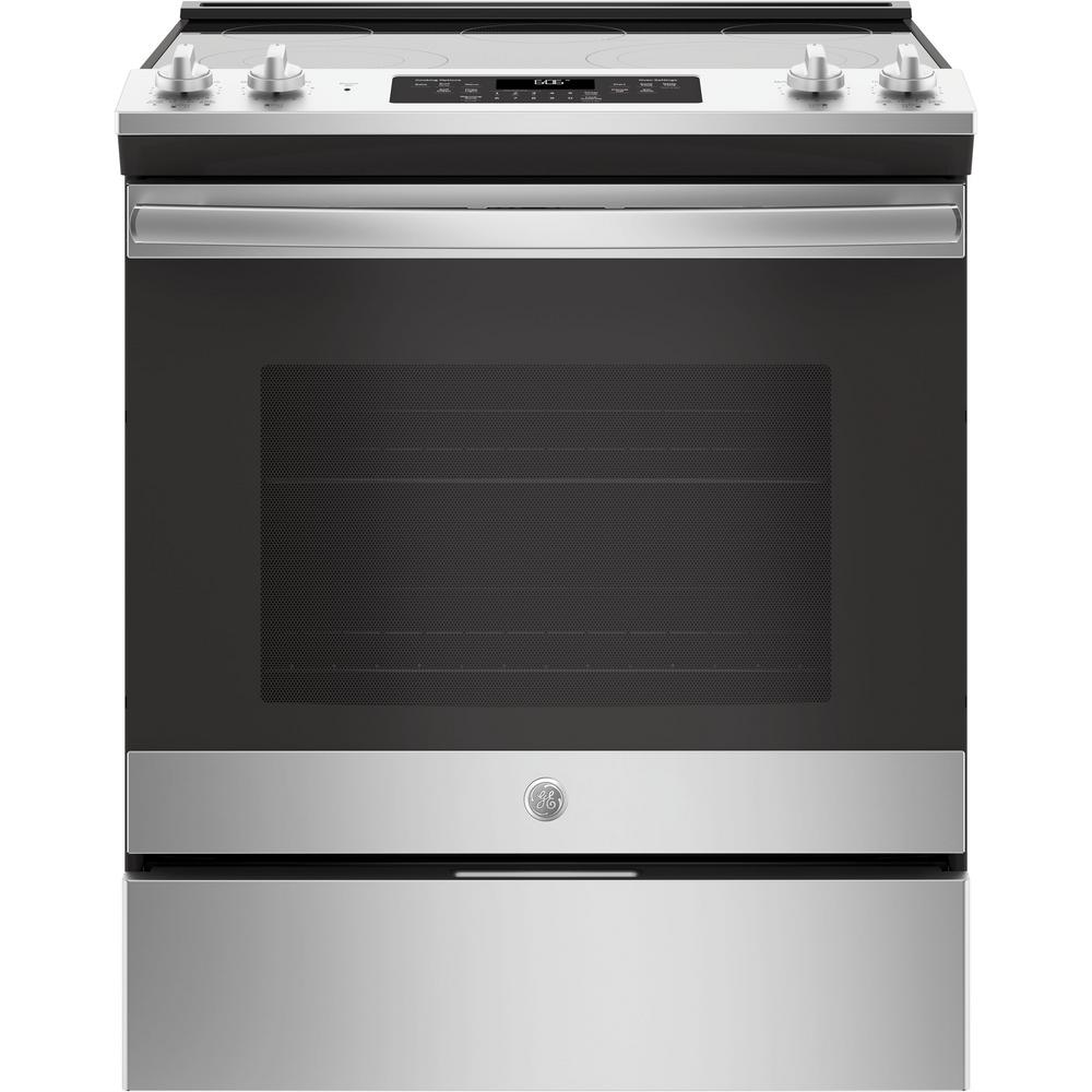 5.3 cu. ft. Slide-In Electric Range with Self-Cleaning Oven in Stainless