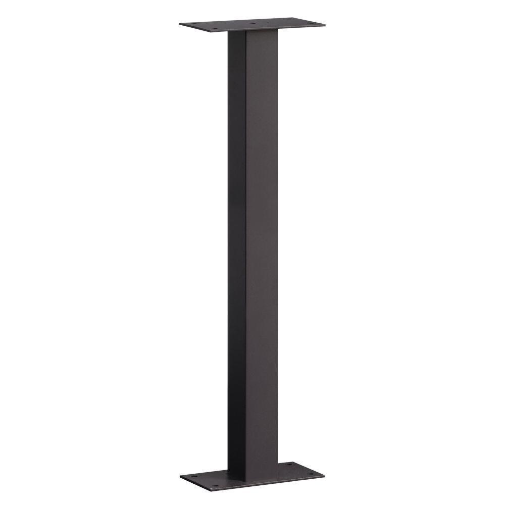 Standard Bolt Mounted Pedestal for Roadside Mailbox in Black