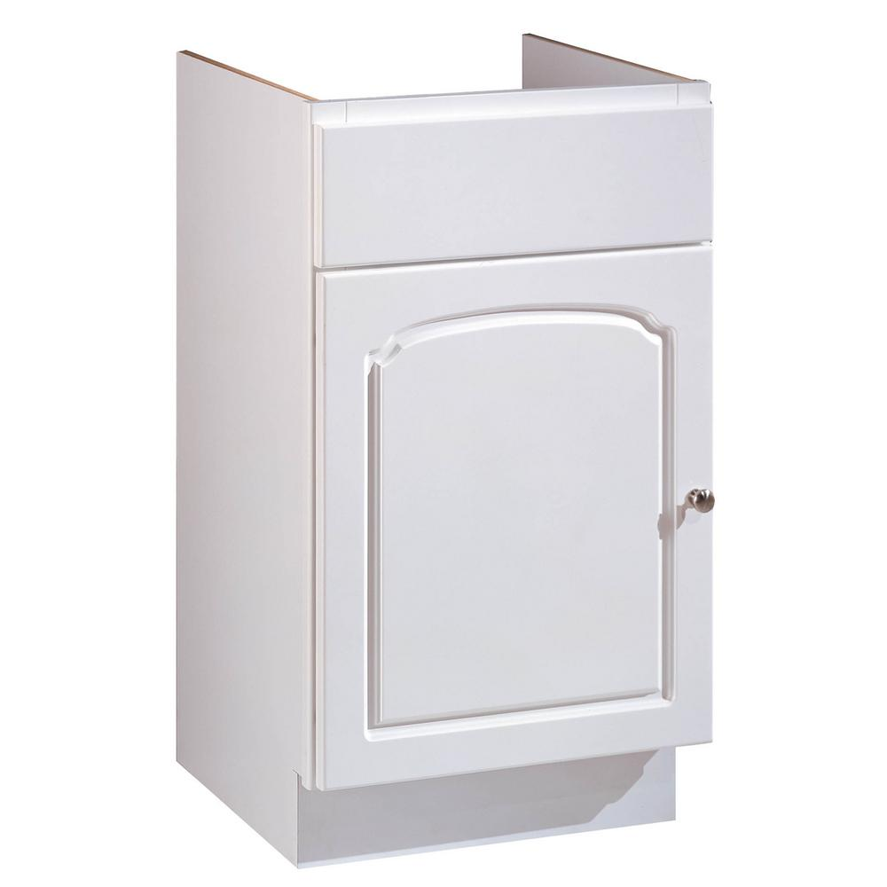 Hardware House 18 In W 1 Door Bathroom Vanity Cabinet Only In White Aspen 16600140 The Home Depot