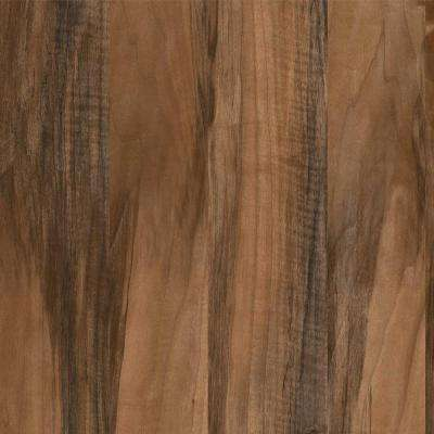 8 in. x 10 in. Laminate Sheet in Planked Texas Walnut with Virtual Design SoftGrain Finish