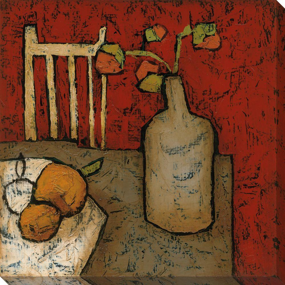 null 40 in. x 40 in. Vase with Fruit II Oversized Canvas Gallery Wrap